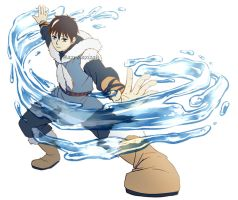 Waterbender Ice by azizART23