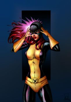 Jean Grey_colored by lilywings