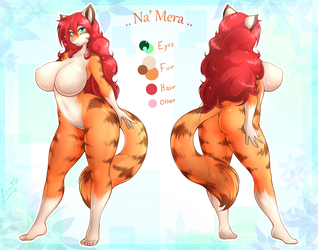 Na'Mera Ref sheet by LeonKatlovre