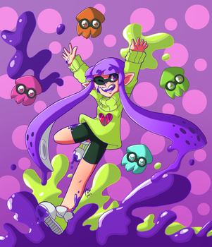 Squid and a Kid by Alulle