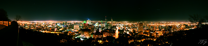 Montreal on Saint Patrick's Day, 1 am by mightystag