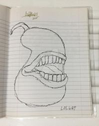 a drawing of that pear from April Fool's 2017 by GoldFlash101