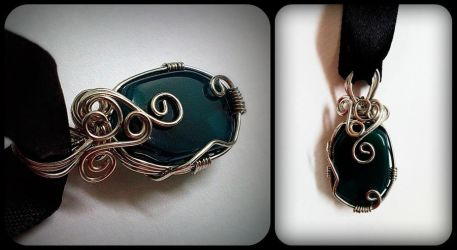 Wire Wrapped Agate by sodacrush