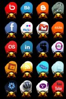 Social Network Icon Army -SNIA by raVen-MacKay