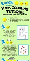 Tutorial - Hair coloring by Luckyaya