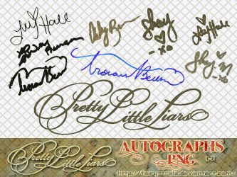 PLL Autographs PNG by Fairy-T-ale