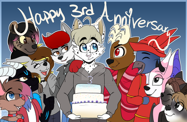 [COM] Group picture anniversary  by CreativeChibiGraphic