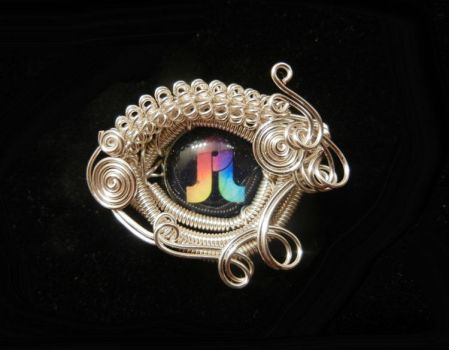 Wire Wrap Pretty Lights Hat Pin Brooch by Create-A-Pendant