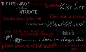 Fall Out Boy Lyrics by Bound-By-Leather