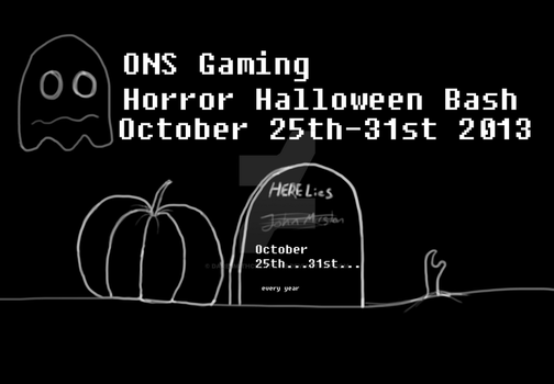 Horror Halloween Bash Event Title 2013 by DareSmithCreations