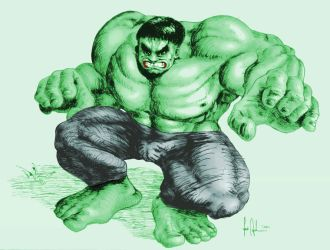 another draw of Hulk by joseanderson