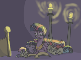Late night reading by Spiderbot1