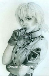 harusame-chan as seras victoria by snakedaemon