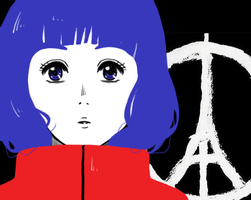 Pray for Paris by Aveleira-Art