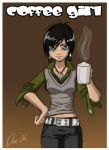 Coffee Girl by OmegaDez