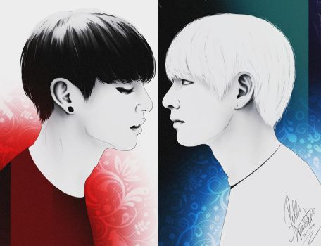 Two Sides of Vkook / BTS by pollidenister