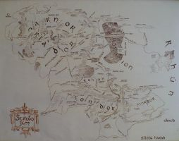 The map of Middle-earth by MirachRavaia