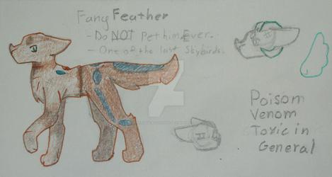 Fang Feather (small ref.) by DragonCatSongArt