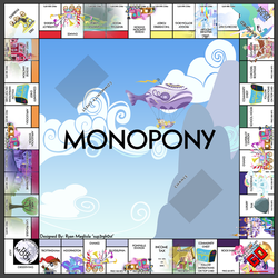 Monopony - A My Little Pony Themed Monopoly Board by sup3rgh0st