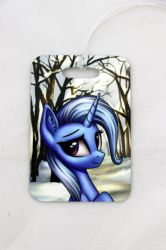 Trixie luggage tag winter by Art-N-Prints