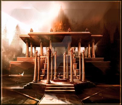 Temple Front View by Baahubali