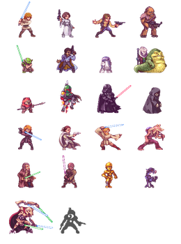 Star Wars Fighters by Orkimides