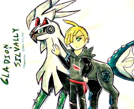 Gladion and Silvally (Sketch) by Espevoirvee