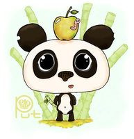 Panda and worm by Put-Putt