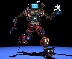 C4D|FanMade|August 8th|FNAFSL|Mecha Animdude by YinyangGio1987