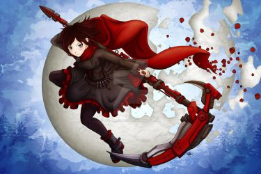 Ruby Rose RWBY (commission - not for sale) by tesseractdigital