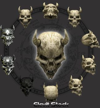Demon Skull Stock by Elevit