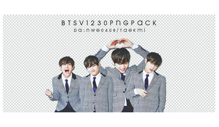 19 / BTS V Birthday PNG PACK by NWE0408