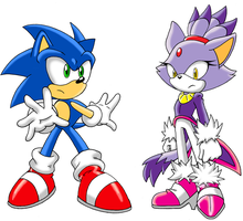 STC Sonic and Blaze by Sonicguru