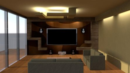 Private Cinema Hall for Residence by sreedeep