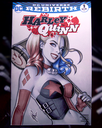 Harley Quinn sketch cover II by WarrenLouw