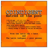Odingent or Hatred of the poor. by crimsonvermillion