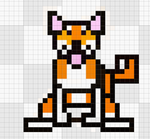 Cute Shiba Pixel Art by FireNationPhoenix