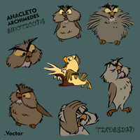 Free Anacleto - Archimedes emoticons by Matylly