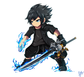 Noctis Brave Frontier/Exivus style by Hyrchurn