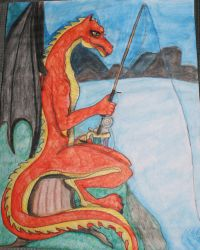 Fire Dragon Fishing by iris1999