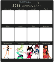 2016 Art Summary version 2 by RebelWinxGirl