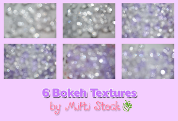 6 Bokeh Textures Pack II by Mifti-Stock