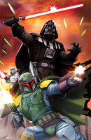 Star Wars: Darth Vader and Boba Fett by ZeroMayhem