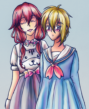 Rosette and Astor: Dress Up by sydchan