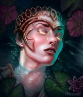 Athena: Olympus Waters by nickhuddlestonartist