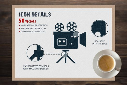 JI-Glyph Cinema Icons Set by jumboicons