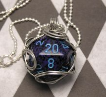 Blue Wrapped d20 by lavadragon