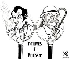 Holmes and Watson by Kyohazard