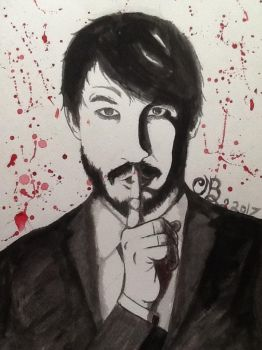 Darkiplier Strikes Again by Dozeraia