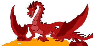 Smaug the Terrible by SammyD-Productions